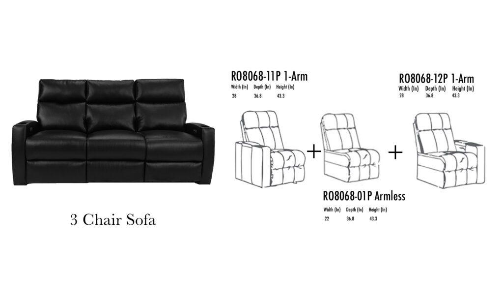 Galaxy Sofa RowOne HT
